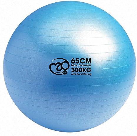 AFX Ballon de Fitness Suisse Epais Exercice de Yoga Gym Stabilit/é Anti-Explosion avec Pompe /à Main 75cm Diff/érentes Coloris