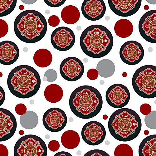 GRAPHICS & MORE Firefighter Fire Rescue Maltese Cross Premium Gift Wrap Wrapping Paper - Truck Gift Wrap Fire