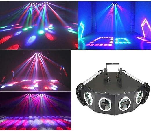 HIZLJJ Verde Rojo Luz Láser DJ proyector de la demostración de ...