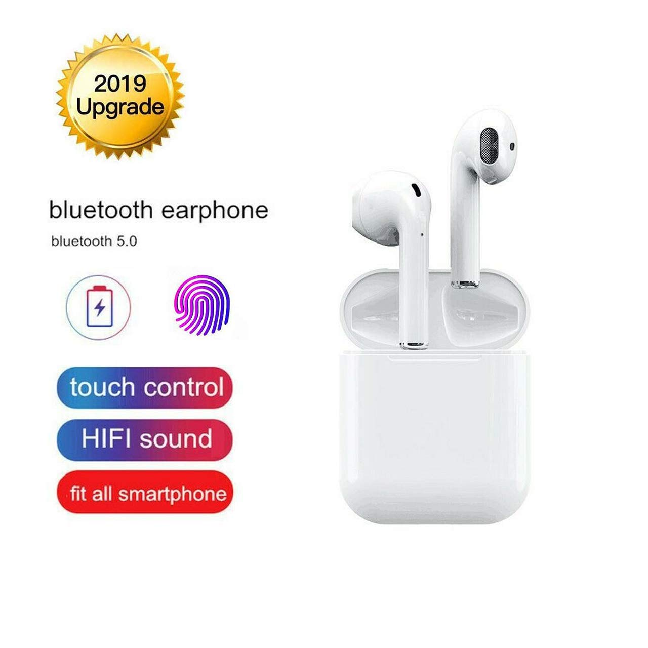 Christmas preset Bluetooth Headphone 5.0 Wireless Earbud 3D Stereo Headset with Microphone Noise Reduction Earplug IPX5 Waterproof Popup Window Automatic Pairing Quick Charging for iPhone Samsung S10