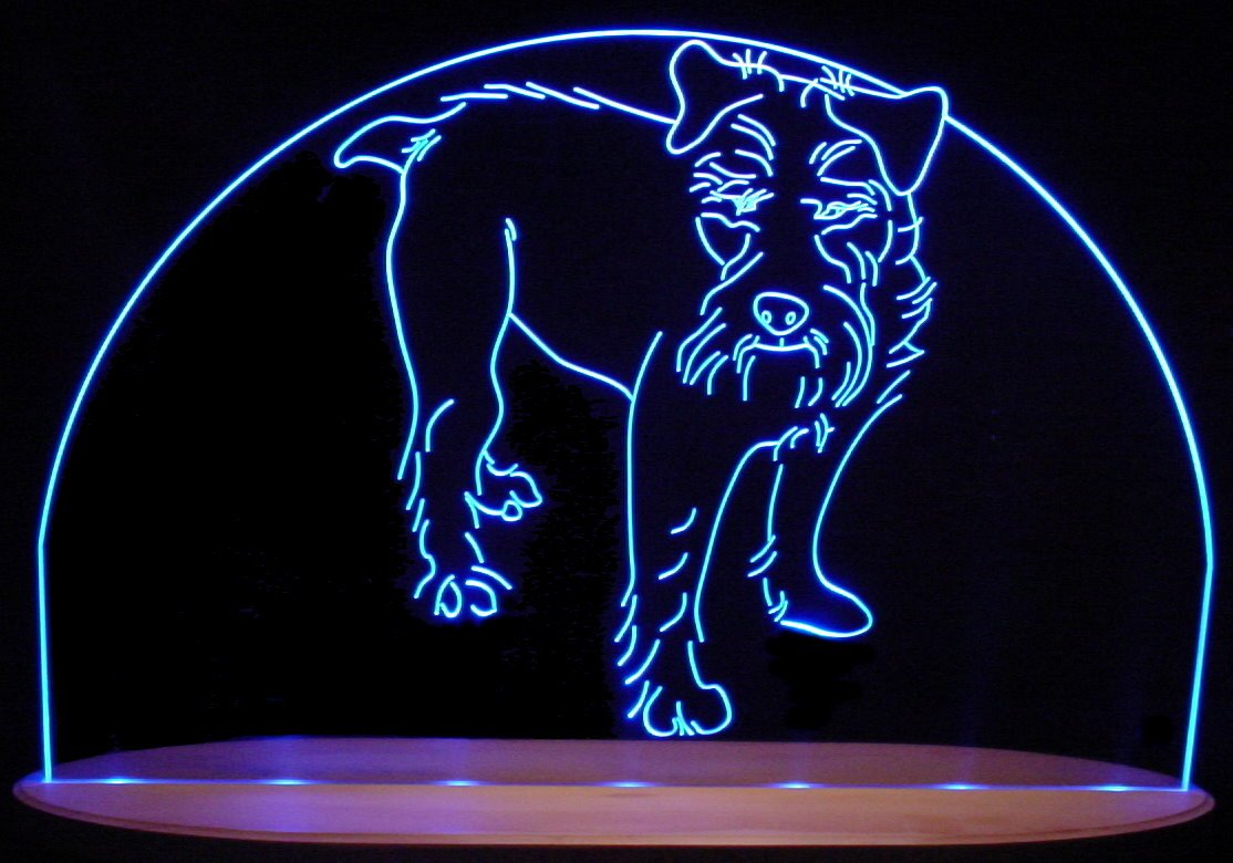 Terrier Dog Awesome 21'' Acrylic Lighted Edge Lit LED Animal Pet Sign / Light Up Plaque