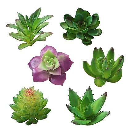 Christmas Succulent Arrangement.Amazon Com Cshopping 6pcs Artificial Succulent Plants