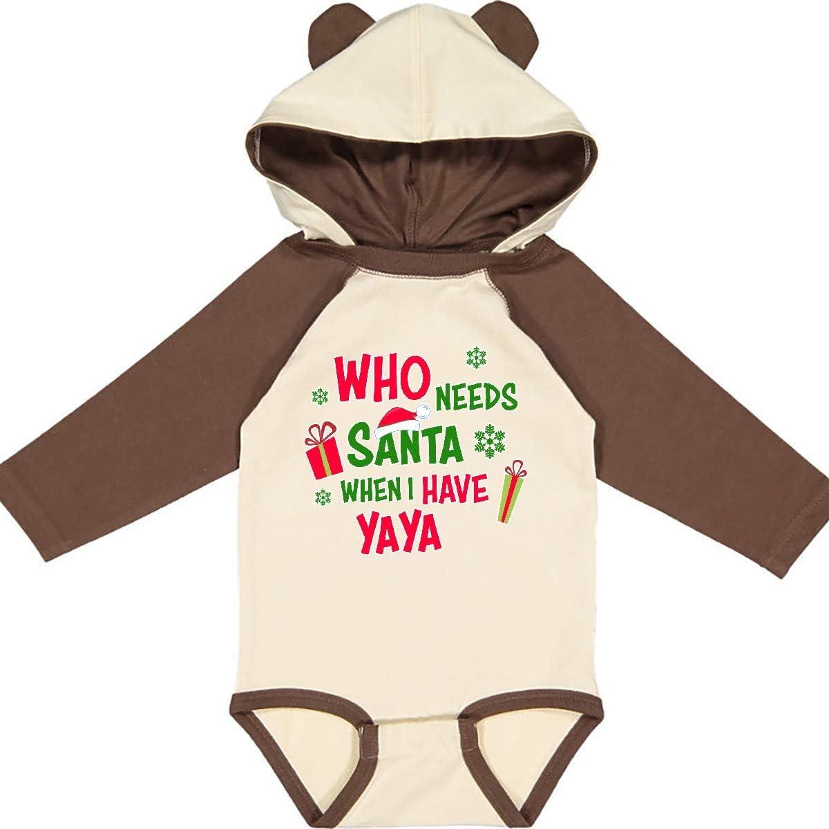 inktastic Who Needs Santa When I Have Yaya Long Sleeve Creeper