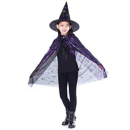 FancyswES8eety Nuevo Oro Rojo Púrpura Niños Feliz Halloween ...