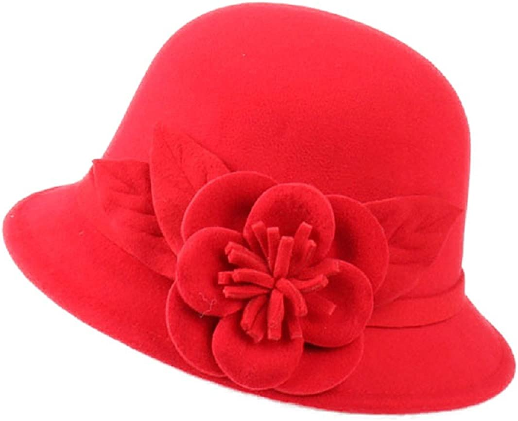 FUNNY365 Flower Felt Cloche...