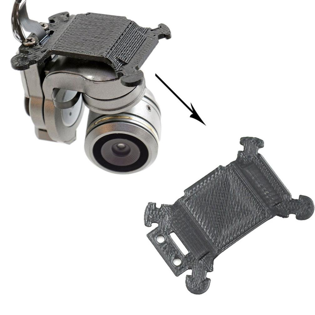 Celendi 3D Printed Replacement Gimbal Plate Mount for DJI Mavic Pro Made of  ABS Material