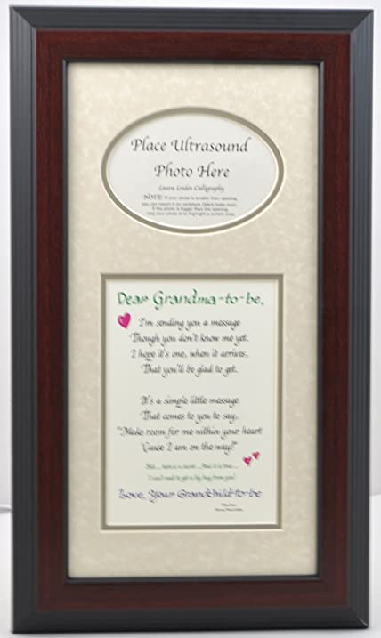 Amazon.com - Grandma to Be Ultrasound Picture Frame 7x14 Sonogram ...