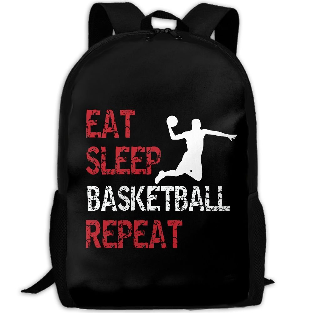 Eat Sleep Basketball Repeat Double Shoulder Backpacks For Adults Traveling Bags Full Print Fashion by THIS STORE