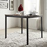 INSPIRE Q 36 inch Darcy Faux Marble Black Metal Counter Height Dining Table
