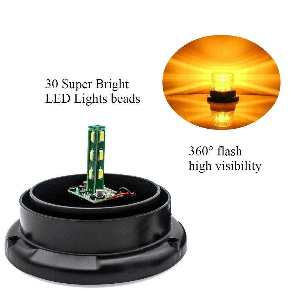 LED Rundumleuchte 12V//24V Blinkleuchte Warnleuchte Auto Signal Warnlicht Stroboskoplicht mit Magnetfu/ß-Blau