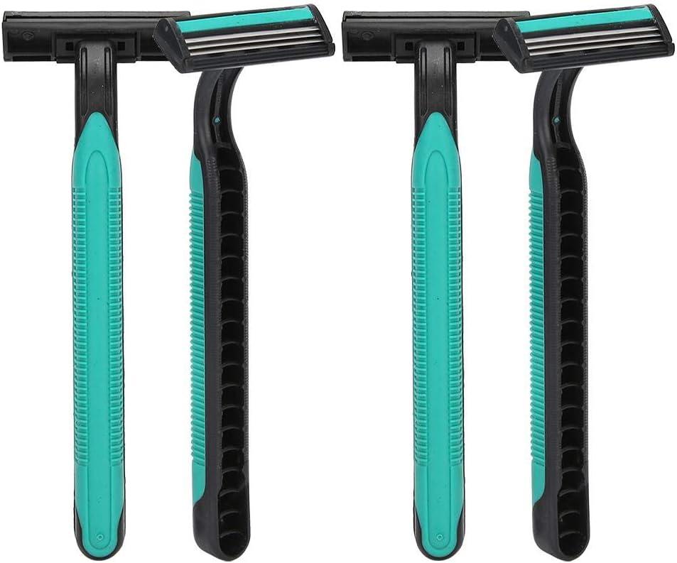 Afeitadora para mujer de 4 piezas, afeitadora desechable portátil ...