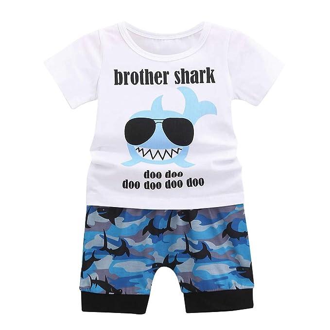 Amazon.com: YESOT Juego de camisetas de tiburón de dibujos ...