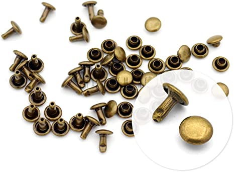 100 pk Tandy Leather Round Spots Brass Plate for decorations purse bottoms