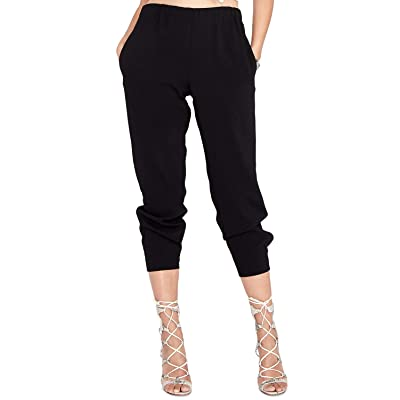 Rachel Rachel Roy Cropped Pull-on Pants Black Size X-Small at Women's Clothing store