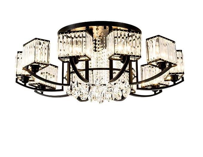 Amazon.com: Lámpara de techo moderna K9 de cristal ...