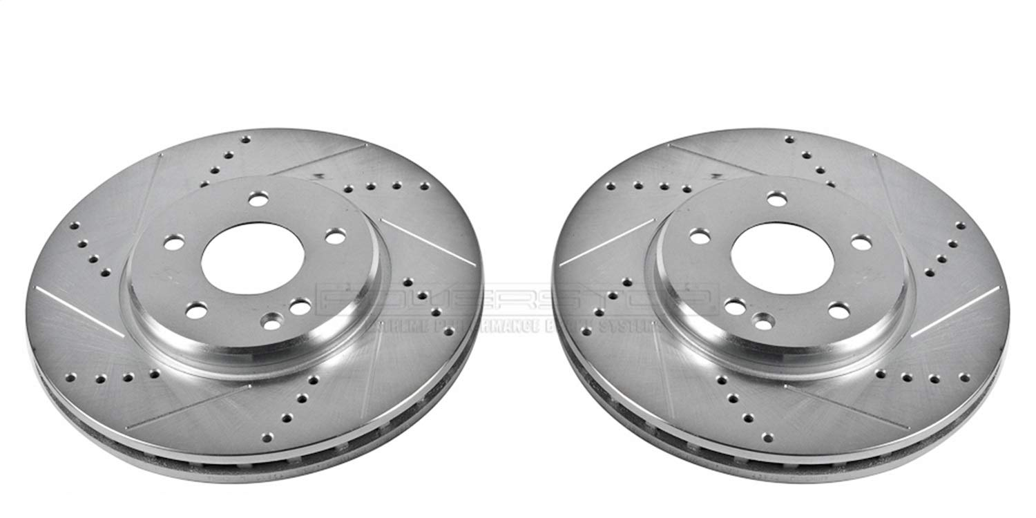Power Stop EBR625XPR Front Evolution Drilled /& Slotted Rotor Pair