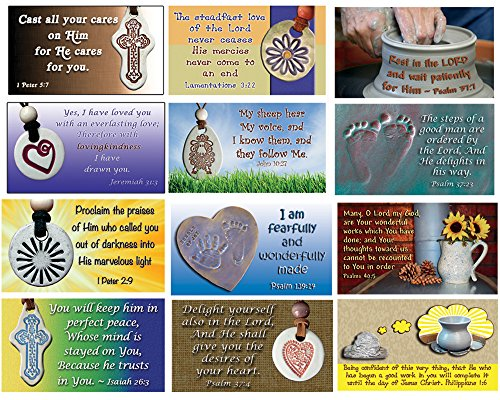 Pass Alongs Scripture Cards Featuring Ceramic, Clay & Pottery - Encourage, Bless, Inspire - 24 in set