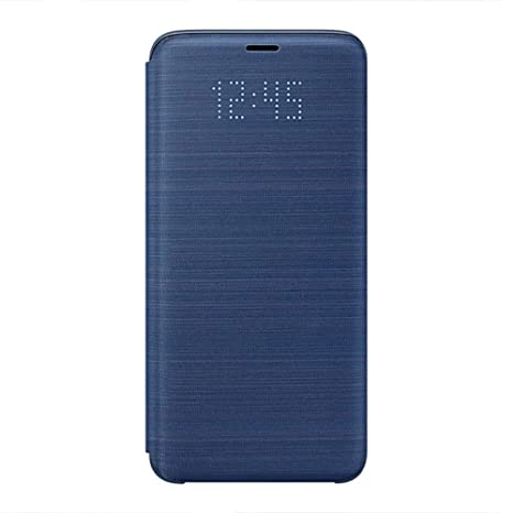 pretty nice 4c8ee a19e0 Samsung LED Display View Flip Wallet Cover Case for Galaxy S9 - Navy Blue,  EF-NG960PLEGWW