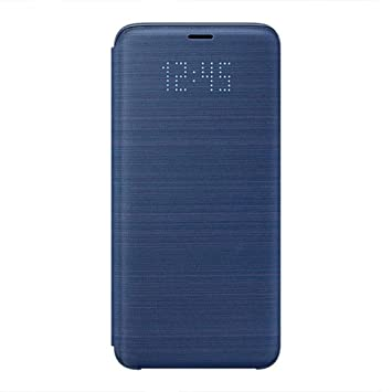 pretty nice a827c 5d832 Samsung LED Display View Flip Wallet Cover Case for Galaxy S9 - Navy Blue,  EF-NG960PLEGWW