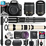 Holiday Saving Bundle for D3300 DSLR Camera + 650-1300mm Telephoto Lens + 55-200mm VR II Lens + AF-P 18-55mm + 500mm Telephoto Lens + 2yr Extended Warranty + 32GB Class 10 - International Version
