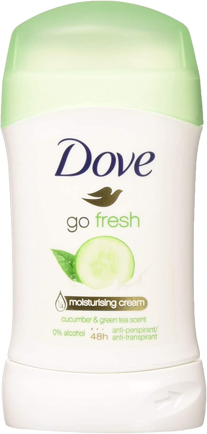 Dove Go Fresh Cucumber & Green Tea Scent, Antiperspirant & Deodorant Stick, 1.4 Oz/40 Ml (Pack of 4)