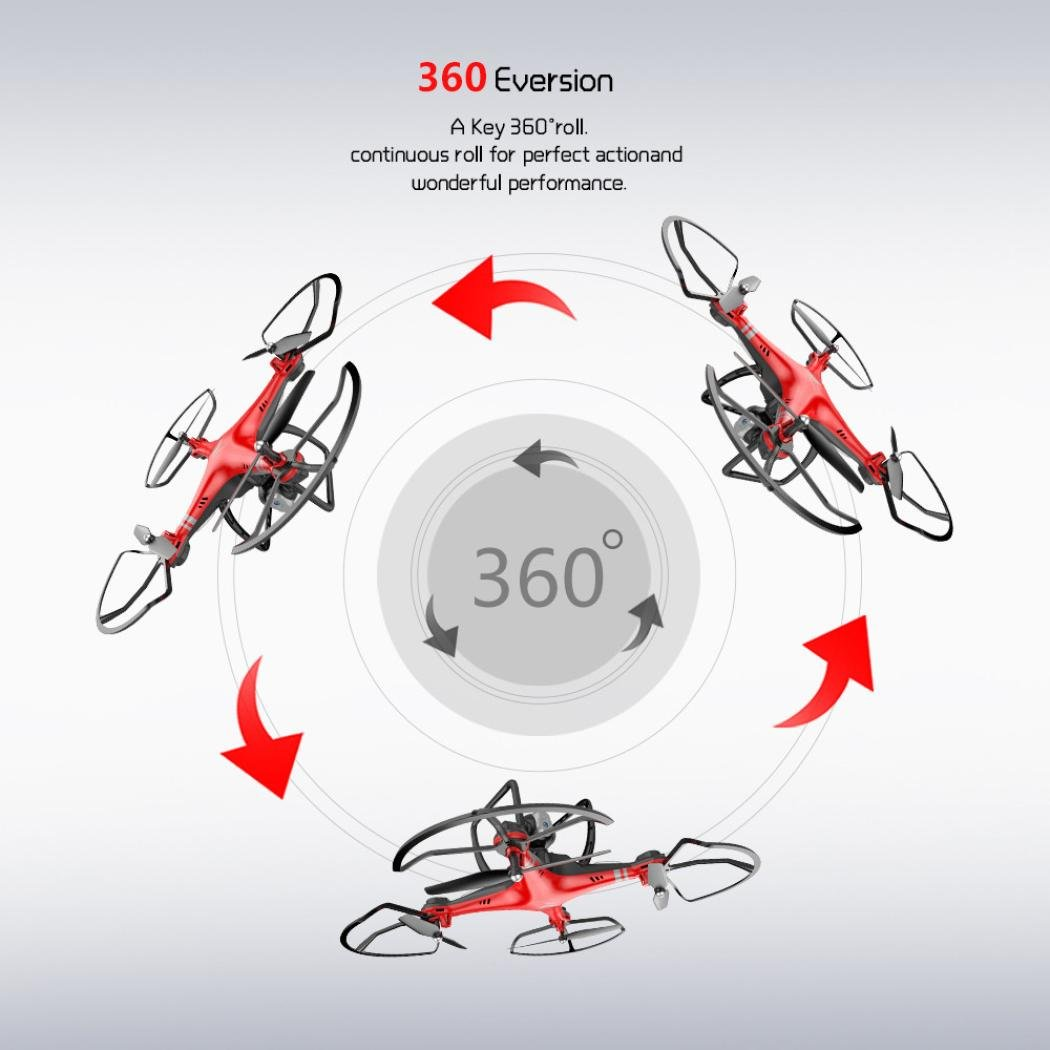 GJKK x8 2.4G RC Quadcopter Quadcopter Quadcopter Strom Anpassung 0.3MP HD Kamera RC Drone FPV Ferngesteuerte Flugzeuge Mini Drone Quadcopter Drone Fliegendes Spielzeug Tragbare Drohne Draussen Drohne-Schwarz/Rot (Rot) 0a6fed