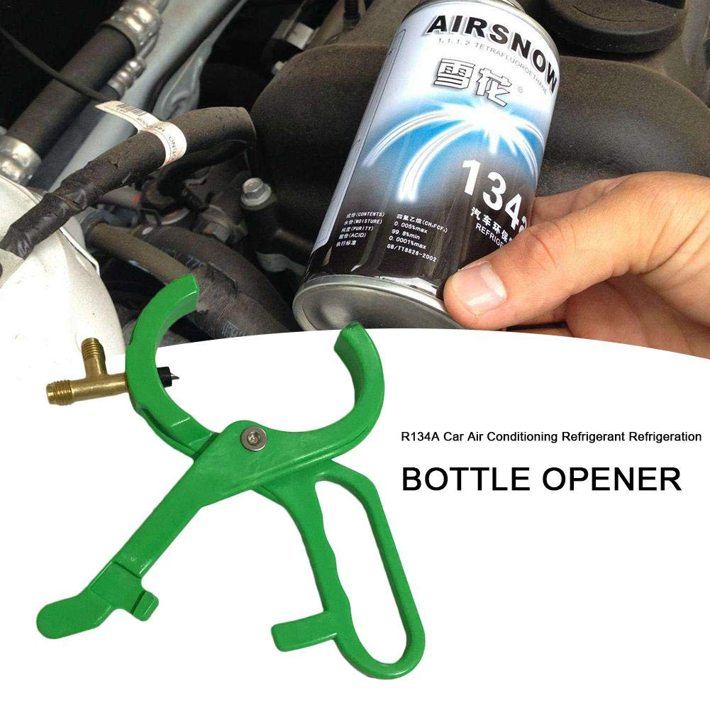 Dedeka Side Can Tap for R134A and Respective Oils,CT006 2-in-1 Side Bottle Opener Connecting for Refrigerant Manifold System