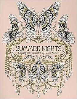 Summer Nights Coloring Book por Hanna Karlzon epub
