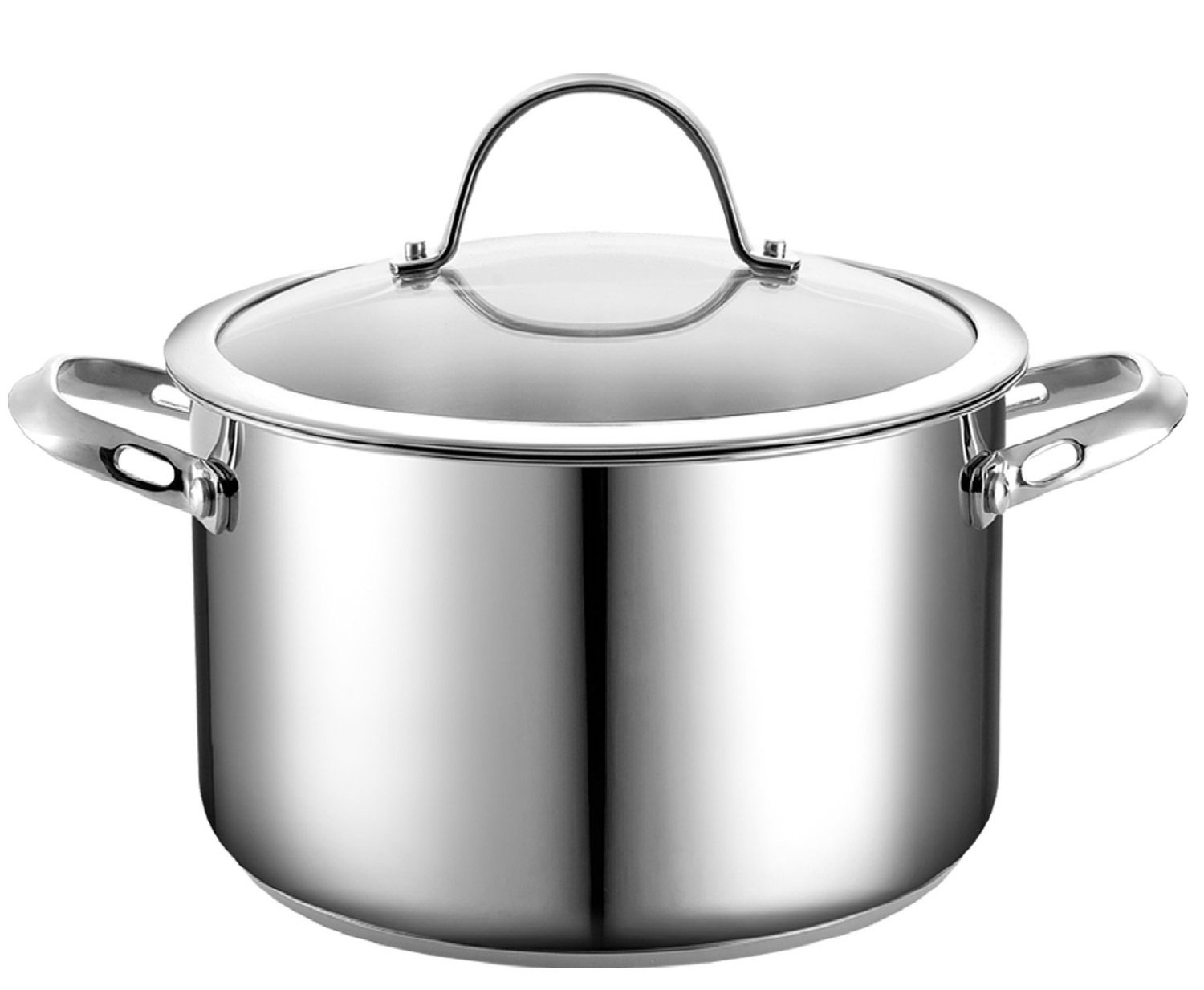 Cooks Standard 6-Quart Stainless Steel Stockpot with Lid