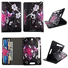 "White Flower Butterfly tablet case 8 inch for Samsung Galaxy Tab 3 8"" 8inch android tablet cases 360 rotating slim folio stand protector pu leather cover travel e-reader cash slots"