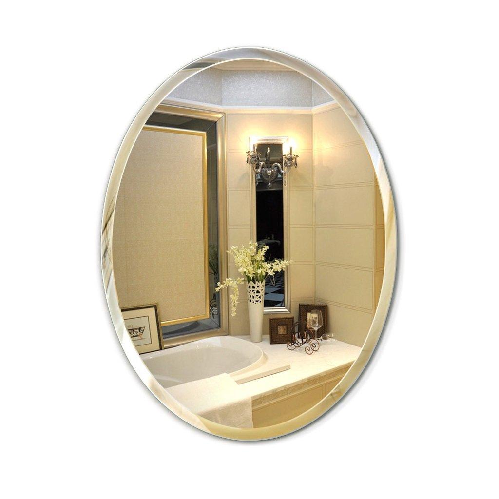 新入荷 SXLL鏡 メイクアップミラー壁掛けバスルーム楕円形の鋭い縁取りバスルームの壁掛けバスルームミラー (サイズ B07KY4S6BB SXLL鏡 さいず : 45 45*60cm*60cm) 45*60cm B07KY4S6BB, カツラムラ:c078c90b --- svecha37.ru