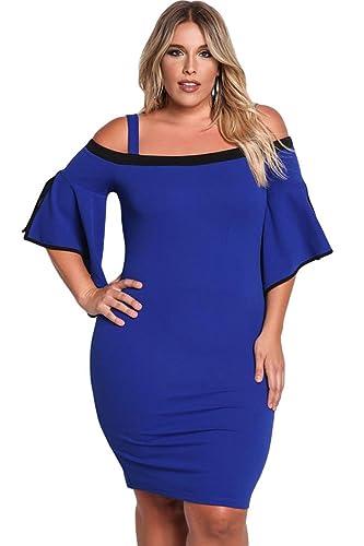 Cokar -  Vestito  - Donna Blau X-Large