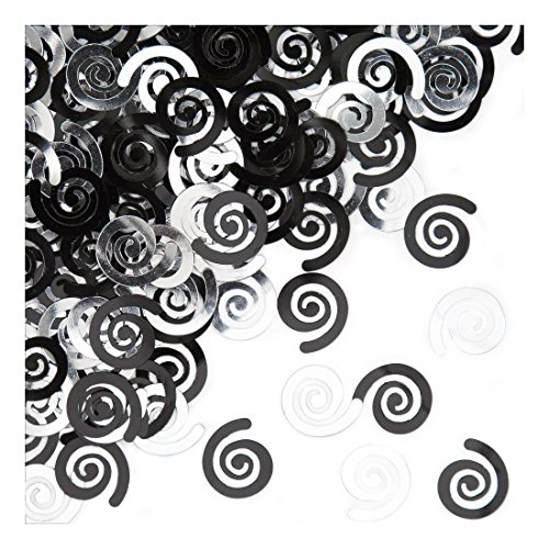 Creative Converting Confetti Swirls Black product image