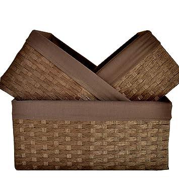 Amazon.com: Gaozs Desktop Storage Basket Snack Storage ...