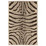 Liora Manne TER23171267 Terrace Zebra Indoor/Outdoor Rug, Grey, 23''X35''