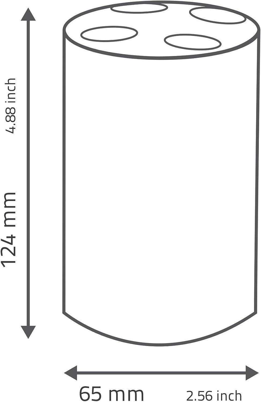 Ridder portaspazzolino Disco in Acrilico Rosso 6.5/x 6.5/x 12.4/cm
