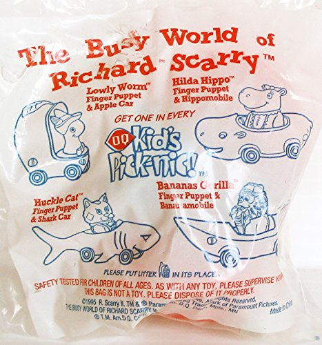 DQ Dairy Queen The Busy World of Richard Scary, Lowly's Apple Car with Finger Puppet Kids Meal (Scary Puppet Movies)