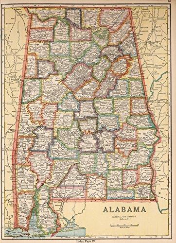 Map Poster - Alabama - 24'x17.5'