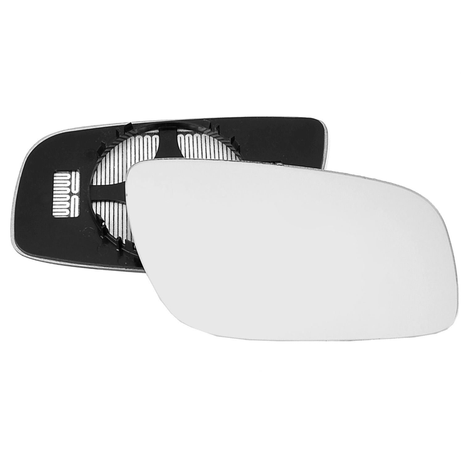 Driver right hand side Heated wing door Silver mirror glass with backing plate #C-SHY//R-MSEW21106 Clip On