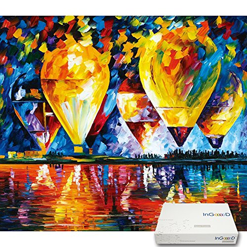 Ingooood- Imagination Series- Hot Air Balloon Above a Lake- Jigsaw Puzzles 500 Pieces for Adult