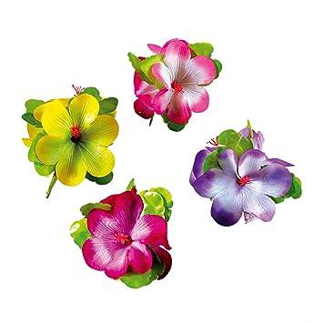haar clips hibiskus hawaii haarschmuck damen karibik hibiskusblà te