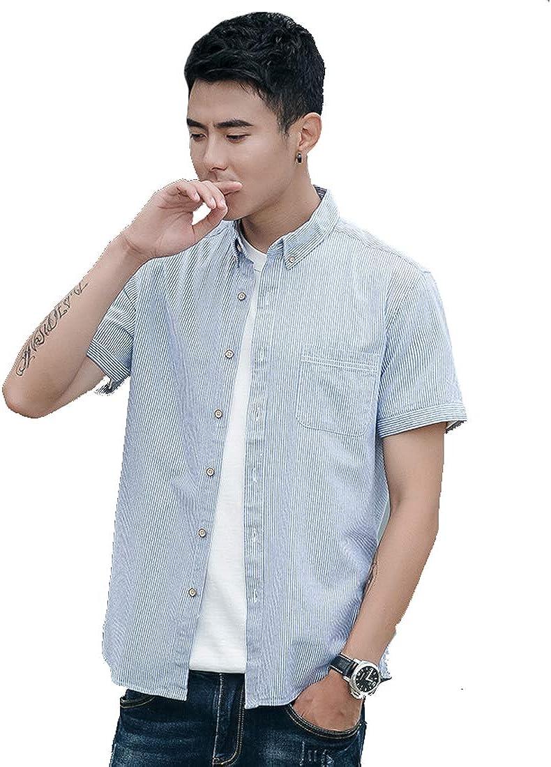 Camisa Casual a Cuadros de Hombre Camisa de Estilo Country Camisa Slim fit de algodón, Camisas Manga Corta Hombre Slim Fit Transpirable para Negocios Boda Ocio Fácil-Hierro: Amazon.es: Ropa y accesorios