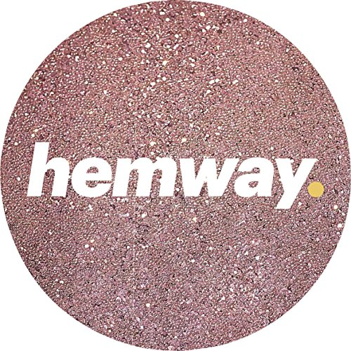 Hemway Rose Gold Premium Glitter Multi Purpose Dust Powder 100g / 3.5oz for use with Arts & Crafts Wine Glass Decoration Weddings Cards Flowers Cosmetic Face Eye Body Nails Skin (Gliter Flower)