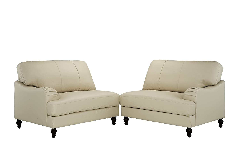 Amazon.com: Classic 2 piezas 100% Real sofá de piel ...