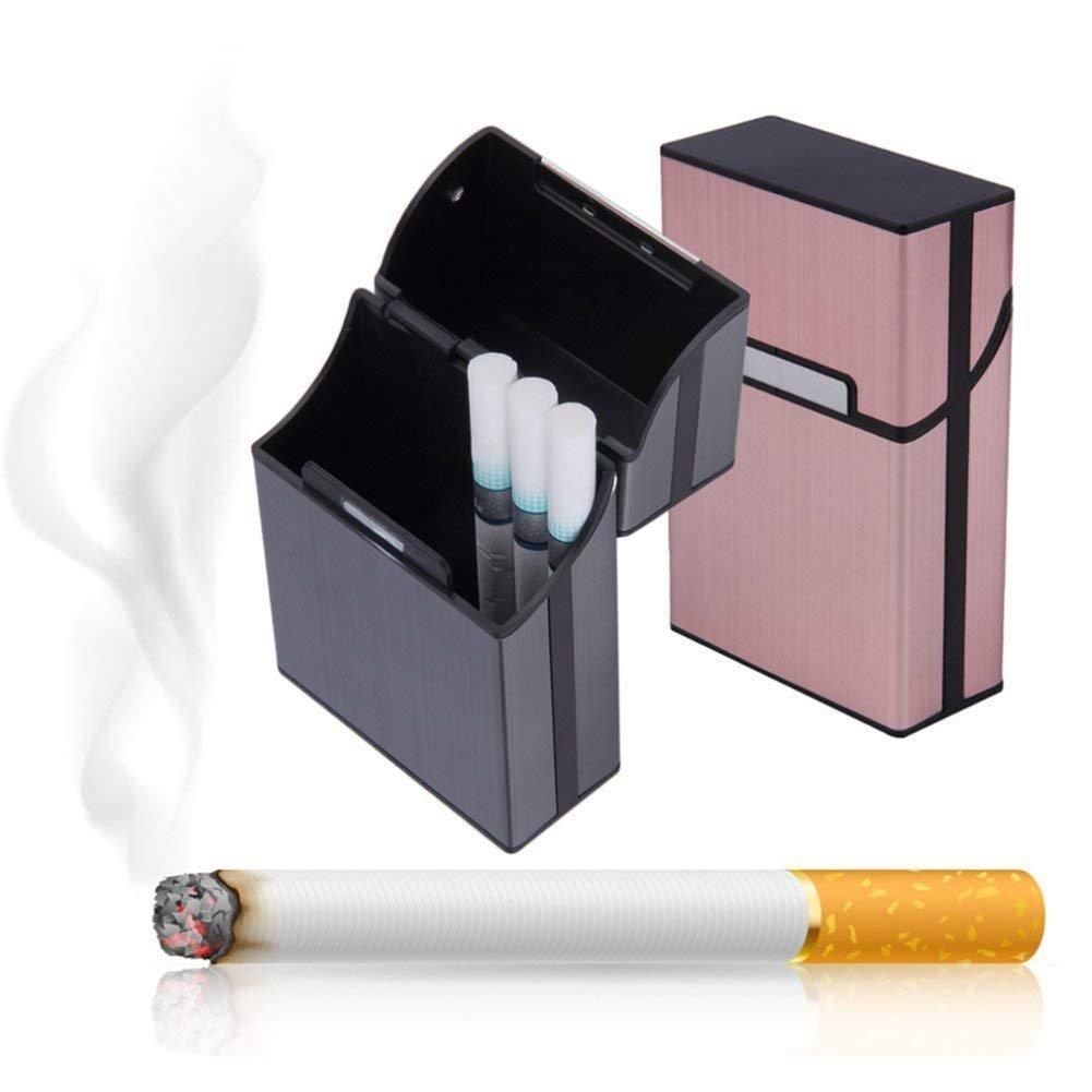 pitillera de Aluminio para Cigarrillos Kitchen Talla /única diarias Objetos Tabaco Puros Color Rosa