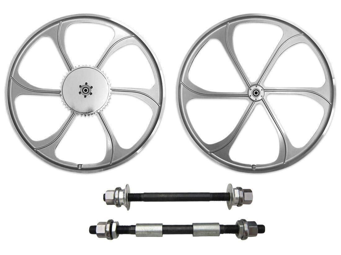 BBR Tuning 26 Inch Heavy Duty Front Mag Wheel for Mountain Bikes, Beach Cruisers, Hybrid Bikes and Motorized Bicycles (Silver) by BBR Tuning