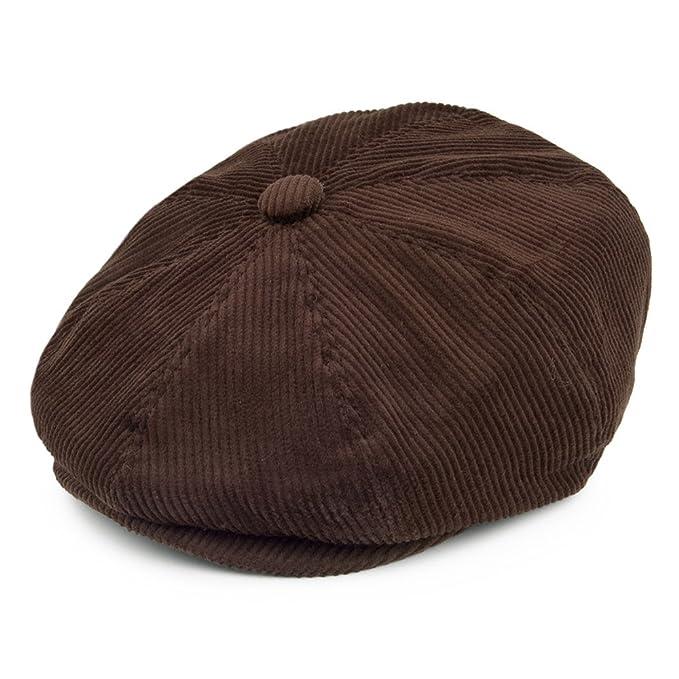4535ee04e273 Jaxon & James Corduroy Newsboy Cap - Brown: Amazon.co.uk: Clothing