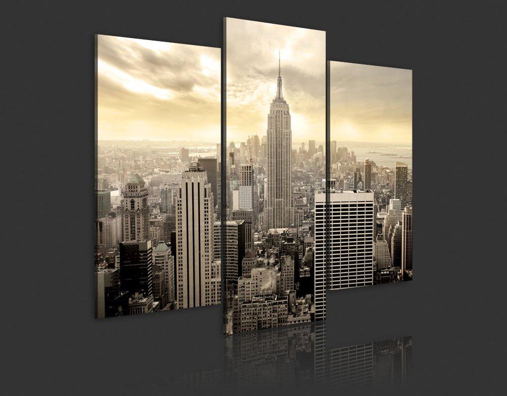 New York Leinwandbild ~ Amazon.de: xxl format top bild leinwand 3 teilig new york