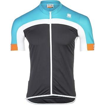 Sportful Pista LongZip Grey-Turquoise Jersey 2015  Amazon.co.uk  Sports    Outdoors 7f1aef2f7