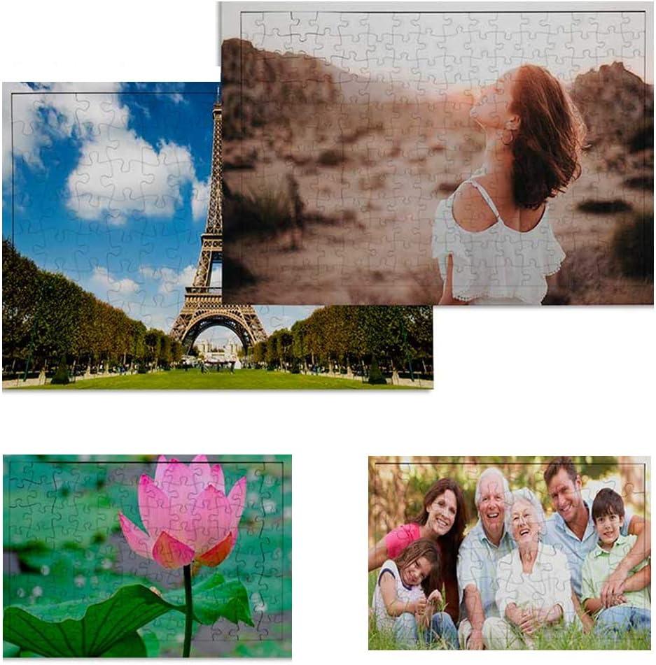 Puzzle Personalizado con tu Foto 192 Piezas Impresión dpi - Bonito Brilloso Tus Puzzles con tu Imagen Preferida - Regalo para Bebes - Madres Bodas Parejas - Rompecabezas Novios